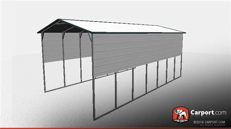 16' X 30' X 12' Rv Carport With Extra Panels  Shop Metal