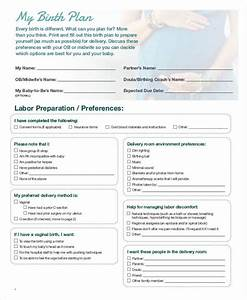 birth plan template 15 free word pdf documents With simple birth plan template