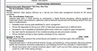 pre sales engineer sample resume format  word