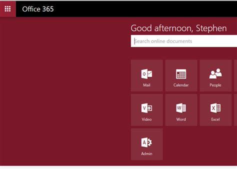 Office 365 Mail Background Color by Office 365 Home Page Menu Background Color Always