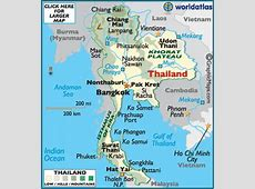 Thailand Latitude, Longitude, Absolute and Relative
