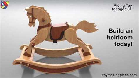 wood toy plans antique  rocking horse youtube