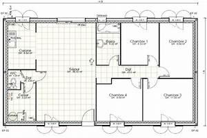 plan maison 100m2 plain pied 4 chambres ventana blog With plan maison 4 chambres plain pied gratuit