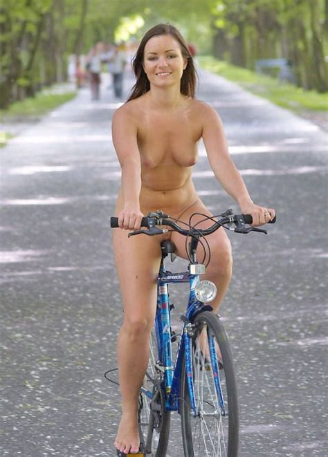 Bicycle Babe Nude Biking Women Bicycle Girl Bike