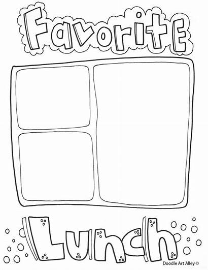 End Coloring Printables Doodles Classroom Printable Lunch