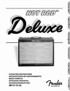 Fender Hot Rod Deluxe Amplifier Download Manual For Free
