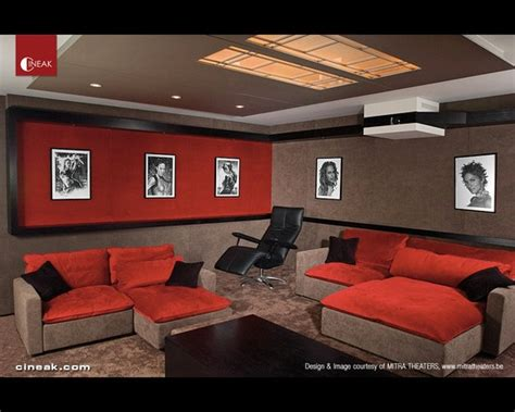 Media Room Furniture by Cineak Intimo Seats In Home Theater Lounge Home Theater