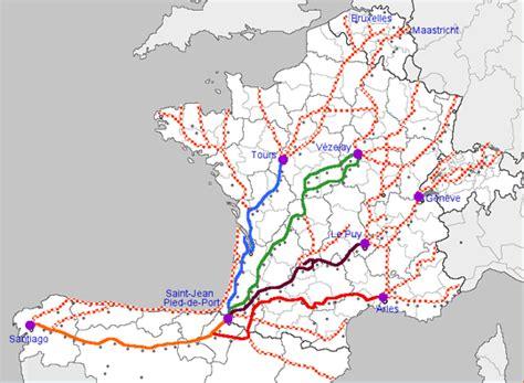 Chemin De St Jacques De Compostelle Carte Suisse by Randonn 233 Es Voyages Et D 233 Couvertes Jacques De