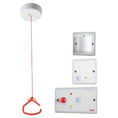 disabled persons toilet alarm kit white