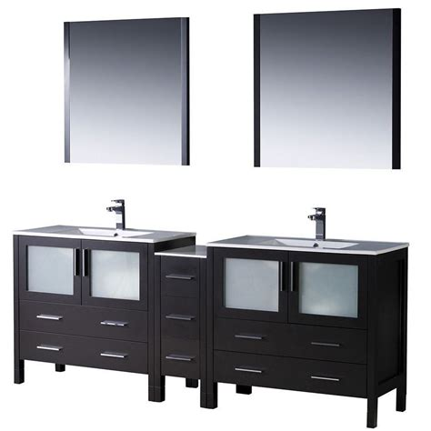 frosted glass cabinet affordable variety fresca torino 84 quot espresso modern
