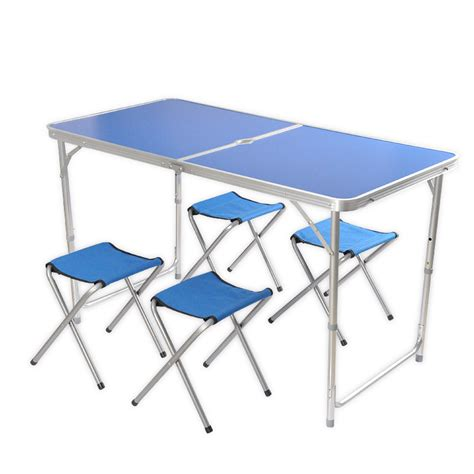 portable table and chairs 5pcs lightweight folding chairs table easy set up portable