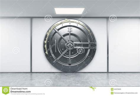 louer un coffre a la banque rendu 3d d un grand coffre fort rond verrouill 233 en m 233 tal dans un deposito de banque illustration