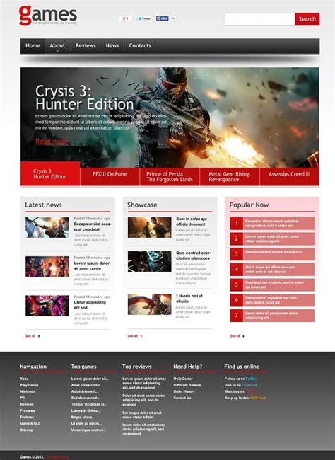 gaming website template gaming website templates pro tips for building a gaming website