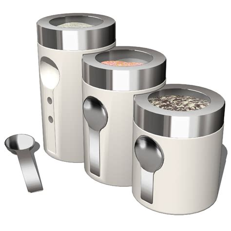 contemporary kitchen canister sets kitchen accesories 02 3d model formfonts 3d models