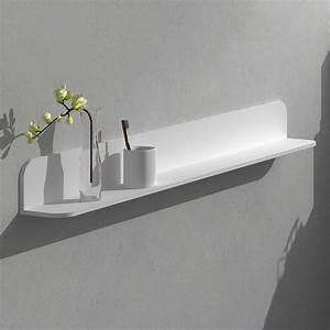 étagère 60 Cm Largeur : etag re murale 60 120 cm blanc mat solid surface ~ Teatrodelosmanantiales.com Idées de Décoration
