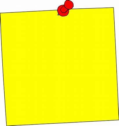 Sticker Yellow Note Clipart Square Clip Yello