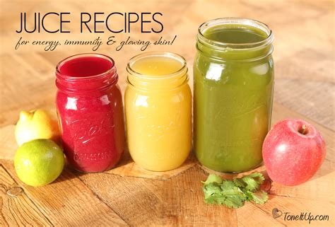 juice recipes energy skin healthy immunity juicer toneitup glowing juices delicious recipe help drinks smoothies glow tone