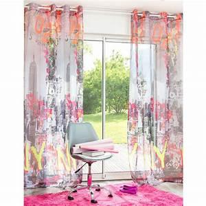 Rideau A Oeillet : rideau illets 140 x 250 cm nyc maisons du monde ~ Dallasstarsshop.com Idées de Décoration