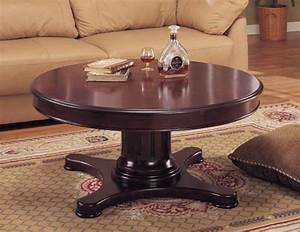 Coffee table design ideas best coffee table ideas for Round pedestal coffee table antique