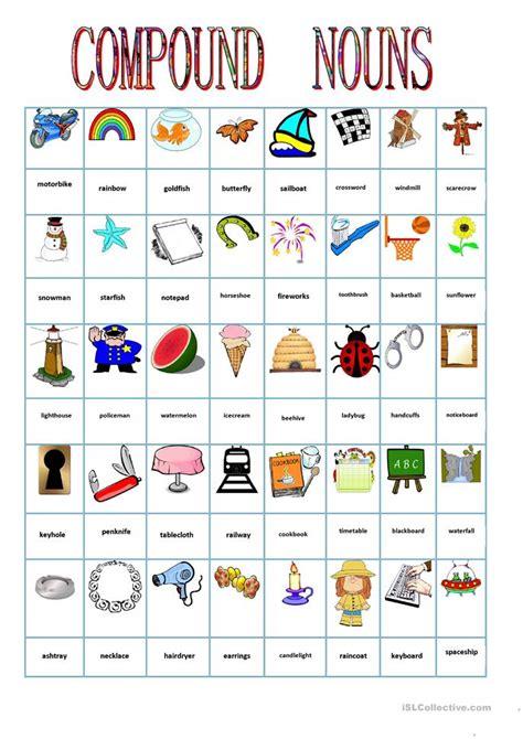compound nouns worksheet  esl printable worksheets