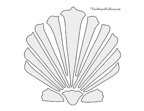 Seashell Christmas Tree by Clamshell Stencil Free Stencil Gallery