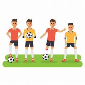 Diseño de jugadores de fútbol Descargar Vectores gratis