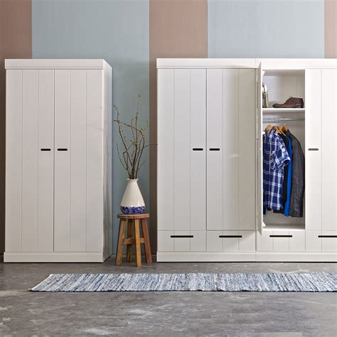 Contemporary Wardrobe by Connect Contemporary 2 Door Wardrobe In White Woood