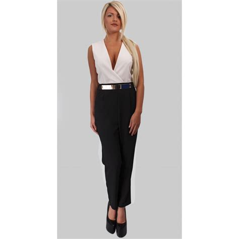 and black jumpsuit kourtney white and black jumpsuit parisia fashion
