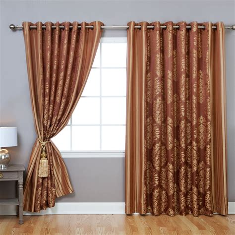Wide Curtains by Best Home Fashion Inc Wide Width Damask Jacquard Grommet