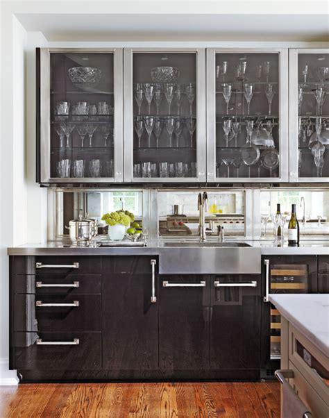 distinctive kitchen cabinets  glass front doors
