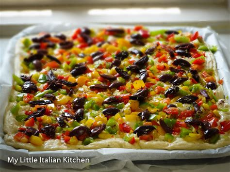 my italian kitchen focaccia with peppers and olives my italian kitchen