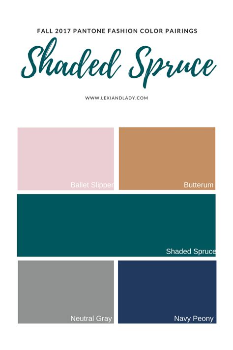 spruce color and ladyfall 2017 pantone fashion color shaded spruce