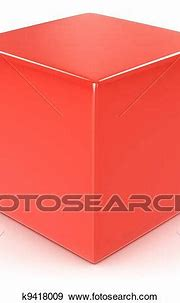 Red cube Stock Illustration   k9418009   Fotosearch