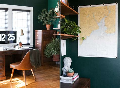 before after hunter green home office 187 brigham