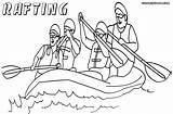 Raft Coloring Rafting Drawing Colorings Getdrawings sketch template