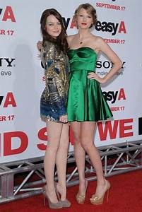 "Taylor Swift Emma Stone Photos Photos - ""Easy A"" Premiere ..."