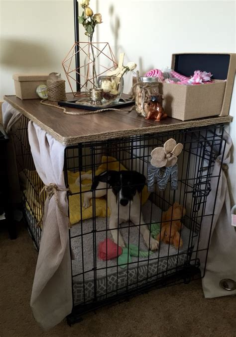 diy dog crate table top woodworking projects plans
