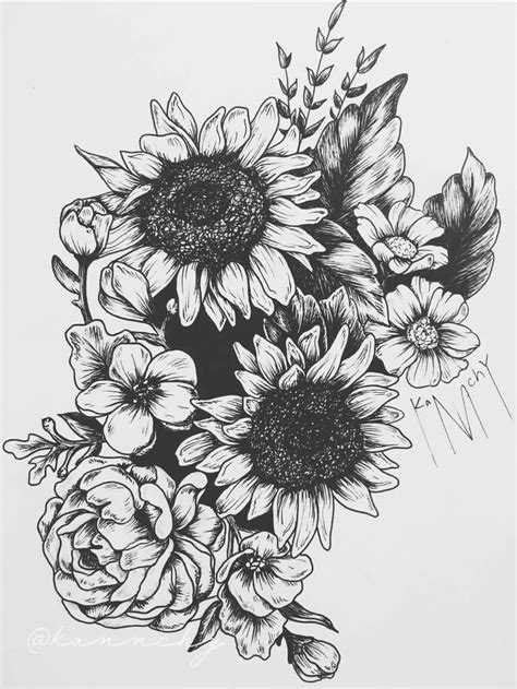 Best Sunflower Tattoo Ideas And Images On Bing Find What Youll Love
