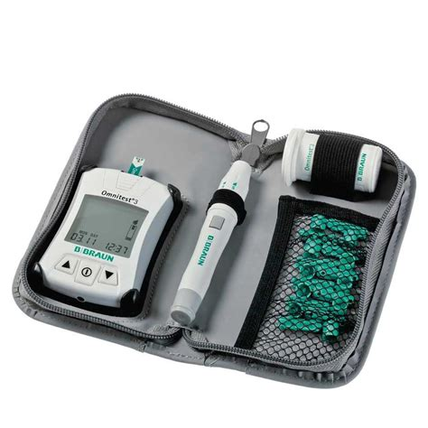 blood glucose testing device bbraun omnitest  set
