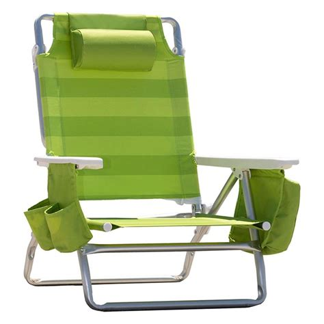 nautica beach chair w side cooler pouch cup holders