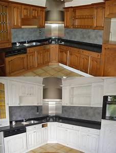 relooking cuisine bois massif chene vannes rennes lorient With awesome meuble de cuisine en bois rouge 0 cuisine moderne en bois