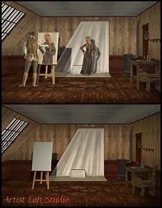 Artist Loft Studio Set 3D Models Richabri