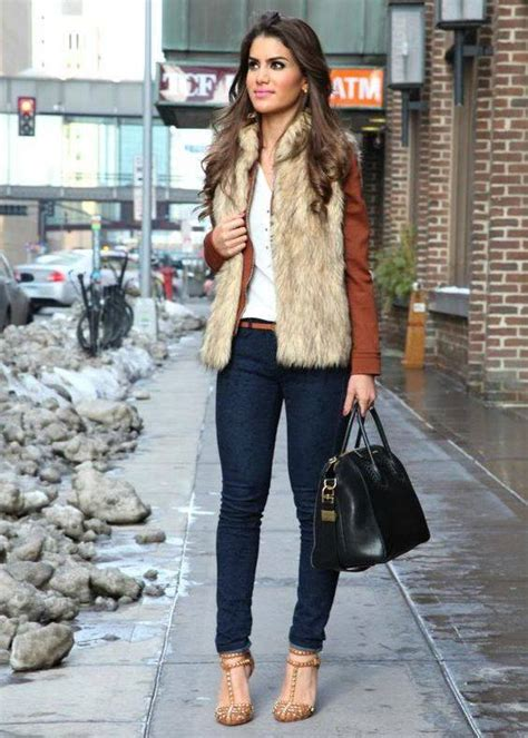 outfits  chalecos de peluche increible opcion