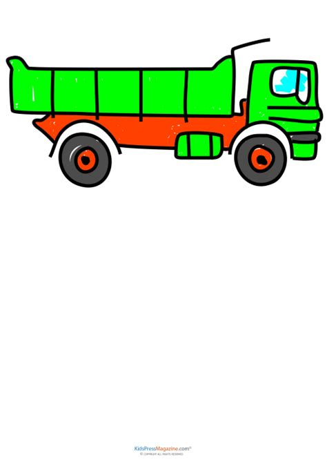 dump truck drawing    clipartmag