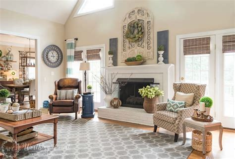Decorating Ideas Above Fireplace by How To Decorate Above A Fireplace In A Two Story Room