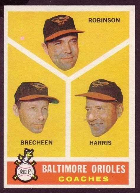 Look up the value of your baseball cards using this handy tool. 1960 TOPPS BALTIMORE ORIOLES COACHER CARD NO:445 NEAR MINT ...