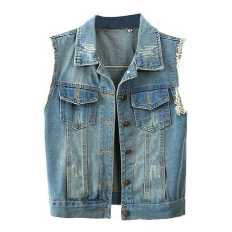 Jeans Jacket No Sleeve - Oasis amor Fashion