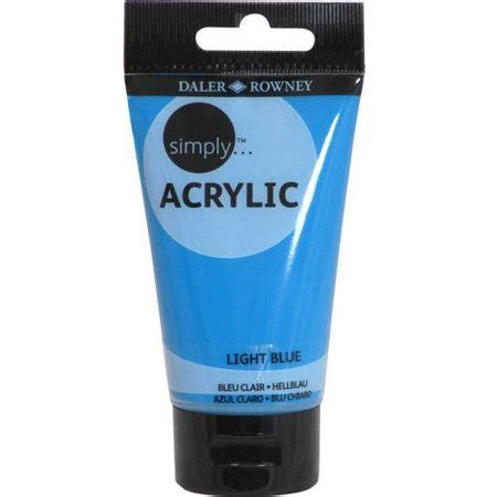 simply acrylic 75ml paint tube available in multiple