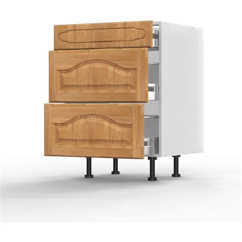 caisson bas cuisine meuble bas chêtre l60xh71 5xp56 124 267 cuisine