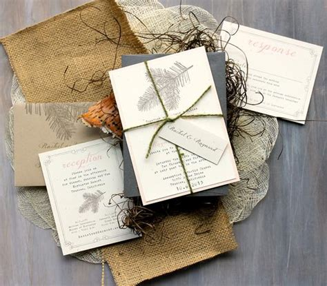 Rustic Elegant Wedding Invitations Peach Wedding